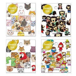 Katiz - 七十件套: 卡通日記貼紙