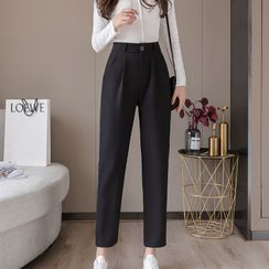 Gray House - Straight-Cut Cropped Dress Pants