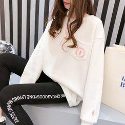 Carmenta - Oversized Lettering Sweatshirt