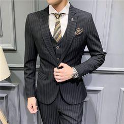 Epir - Set: Single-Button Blazer + Vest + Dress Pants