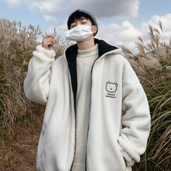 Bay Go Mall(ベイゴーモール) - Reversible Faux-Shearling Hooded Jacket