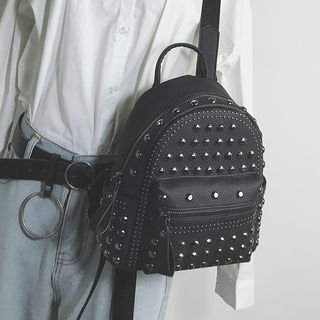 Hase Babe - Studded Faux-Leather Backpack
