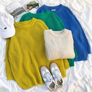 CaraMelody - Waffle Knit Sweater