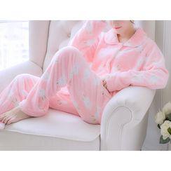 Voomer - Pajama Set: Fleece Top + Pants