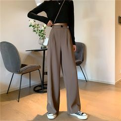 Yako - High-Waist Wide-Leg Pants