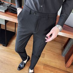 NYEON - Striped Tapered Dress Pants