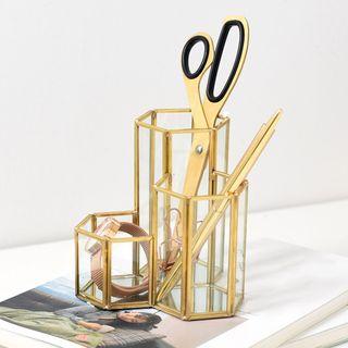 miss house - Copper & Glass Pen Holder
