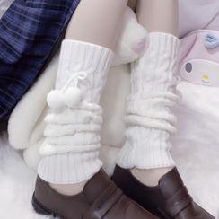 Geisha - 毛毛球暖腿套
