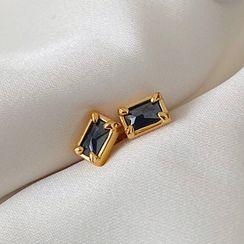 Betsuno - 方形合金耳環