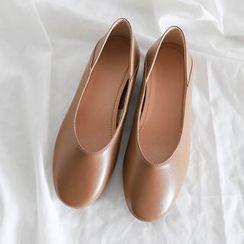 Aegina - Faux Leather Slip-on Flats