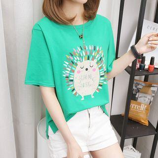 Hevnir - Printed Short-Sleeve T-Shirt