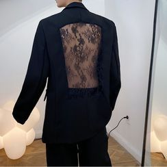 ANCHO - Lace Panel Oversize Blazer