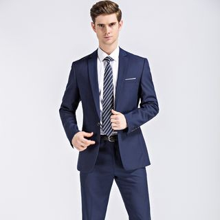 Andrei - Button-Up Blazer / Slim-Fit Dress Pants / Set