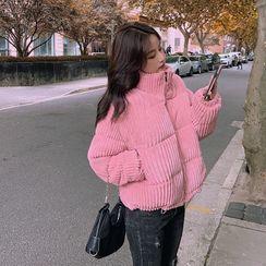 伊之恋 - 灯芯绒夹棉大衣