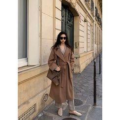 chuu - Wide-Lapel Wrap Coat
