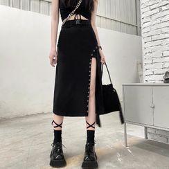 Giuliana - Side-Slit Midi Pencil Skirt