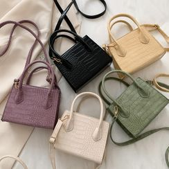 Road to Love - Croc Grain Crossbody Mini Bag