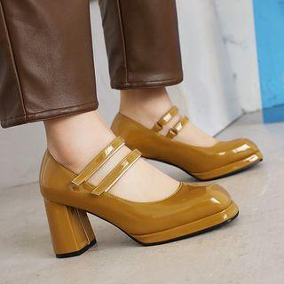 Megan - Chunky-Heel Mary Jane Shoes