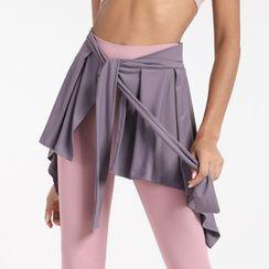 G.LIMITROCK - 腰結帶運動外襯短裙