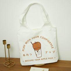 Yikkid - Print Cotton Shopper Bag