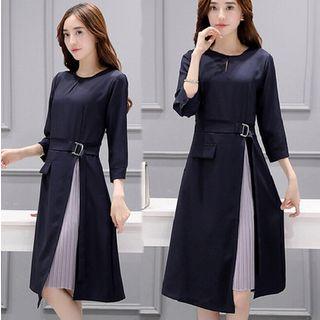 EFO - 3/4-Sleeve A-Line Dress