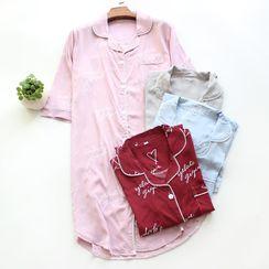 Dogini - Lettering Pajama Dress