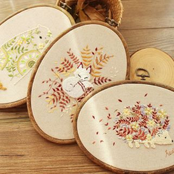 Embroidery Kingdom - Embroidered Animal  DIY Sewing Kit