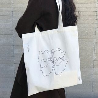 Woodword - Ghost Canvas Tote Bag