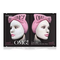 double dare - OMG! 2 In 1 Kit Detox Bubbling Microfiber Mask