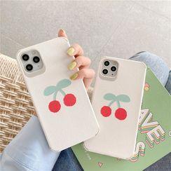 Witheart - Cherry Print Phone Case - iPhone 11 Pro Max / 11 Pro / 11 / SE / XS Max / XS / XR / X / SE 2 / 8 / 8 Plus / 7 / 7 Plus
