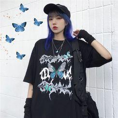 Giuliana - 短袖蝴蝶印花T裇