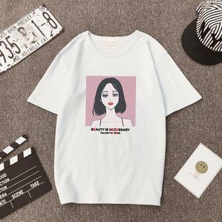 Carmenta(カルメンタ) - Short-Sleeve Printed T-Shirt