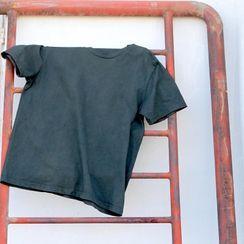 bleublack - Short-Sleeve Plain T-Shirt
