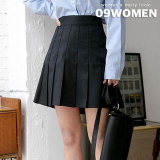 Seoul Fashion - Inset Shorts Band-Waist Tennis Skirt