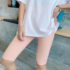 Lacyland - 纯色瑜伽短裤