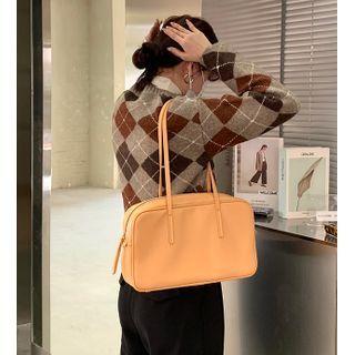 Kokora - Plain Faux Leather Hand Bag