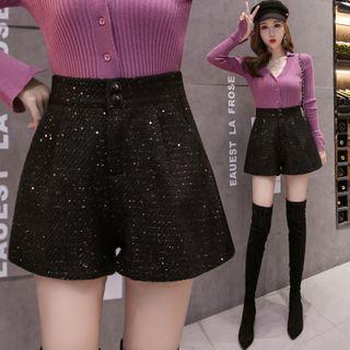 MAVIS - Sequined Tweed Shorts