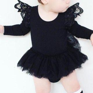 MOM Kiss - Baby Lace Trim Bodysuit