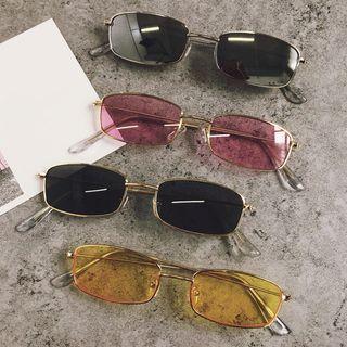 Aisyi - Retro Rectangular Sunglasses
