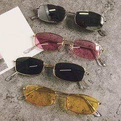 Aisyi(アイシー) - Retro Rectangular Sunglasses