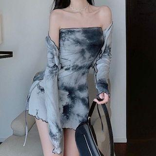 Dinse - Tie Dye Tube Dress / Light Jacket