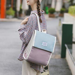 Willow Bloom - 方形插色帆布背包