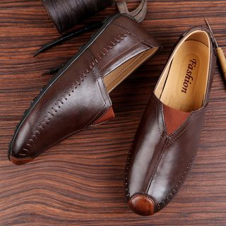 WeWolf - Genuine-Leather Slip-On Casual Shoes