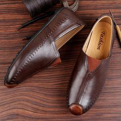 WeWolf(ウィーウルフ) - Genuine-Leather Slip-On Casual Shoes
