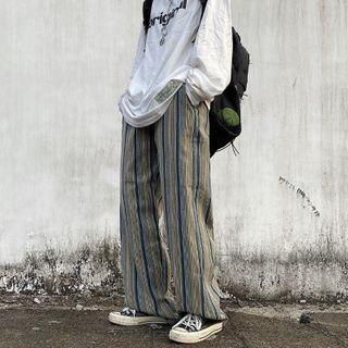 Shineon Studio - Striped Wide-Leg Pants