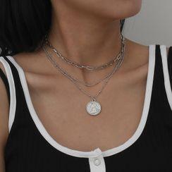 Seirios - Set of 3: Chain Coin Pendant Necklace