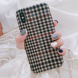 Aion - Plaid Fabric Mobile Case - iPhone X / 8 / 8 Plus / 7 / 7 Plus / 6s / 6s Plus