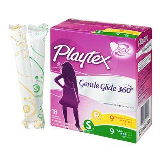 Playtex - Gentle Glide Tampons Multiple Pack (Regular + Super / 9's+9's)