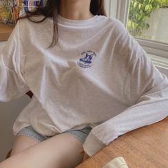 CHERRYKOKO - Cap Print Mélange T-Shirt