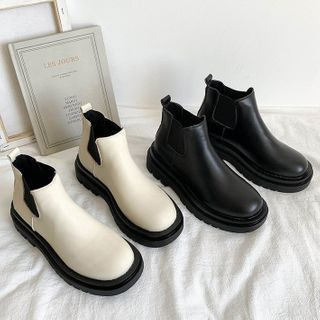 Bolitin - Faux Leather Platform Ankle Chelsea Boots